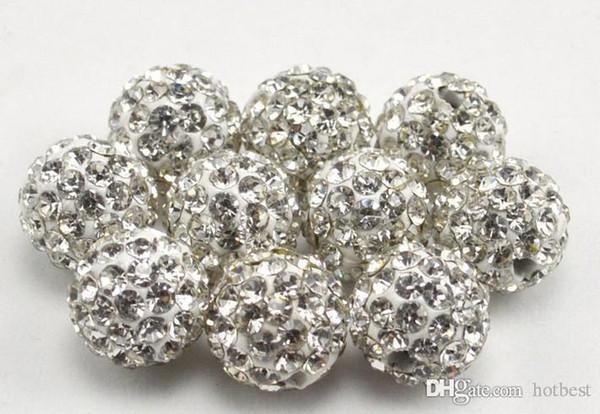 100 adet / grup m3532 en iyi 10mm karışık çok renkli top Kristal kristal Boncuk Bilezik Kolye Boncuk. Sıcak yeni boncuk Lot! Rhinestone DIY t5353 g94