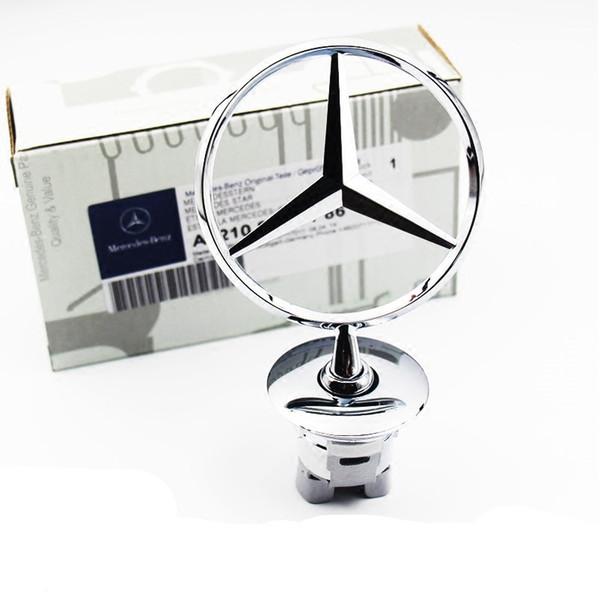 Araba Styling 3D ABS Krom Araba Ön Logo amblem Mercedes Benz Araba Oto Çıkartmaları Için Rozet çıkartmalar Aksesuarları