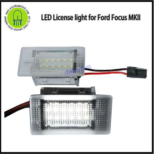 2PCS x dahosun LED License Lamp for Ford Focus MKII MK2 Special for Car Number Plate Light