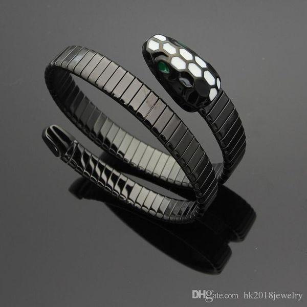 Top Quality Famous Brand Snake Design 316L Stainless Steel Spring Bracelet for Men Women Bulgaria Love Expandable Bracelet Jewelry