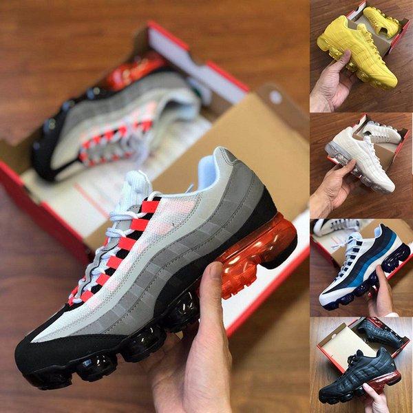 2019 95 Chaussures Hommes Chaussures De Sport 95 OG Mens Designer De Luxe 95s Hommes Rouge Jaune Néon Blanc Baskets Casual Homme Baskets taille 36-45