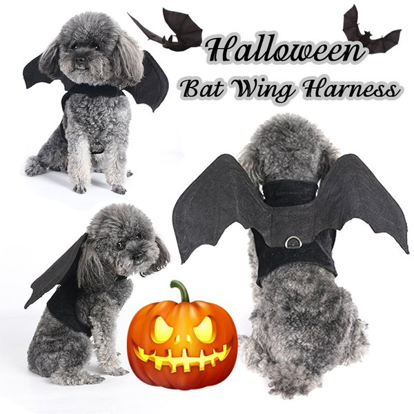 Halloween Bat Wing Dog Harness for Halloween Party Dog Costume Cosplay Vest Harnesses For Dogs Funny Pet Products Accessories