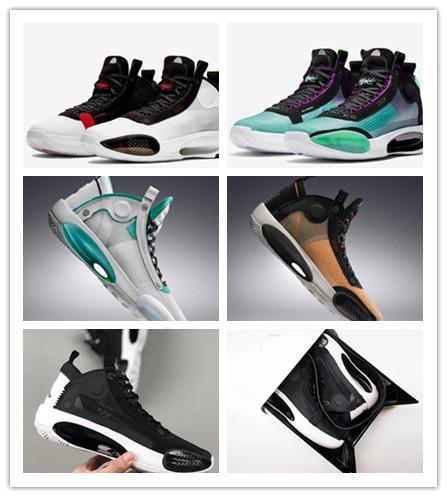 34 Amber Взлета 2019 34 Новой XXXIV Синей Недействительной обувь Мужчины Баскетбол дышащего Comfort 34 Разводят Luxury Дизайнерской спортивной обуви с коробкой 16