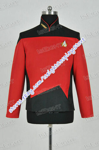 The Next Generation TNG Command Cosplay Costume Red Shirt Halloween Star Trek