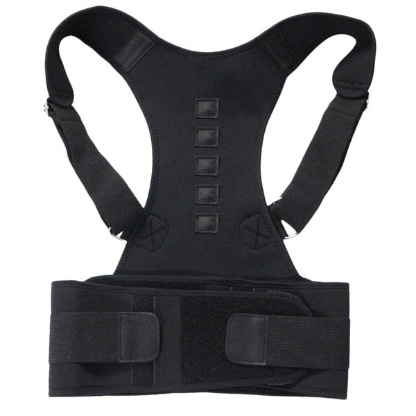 Magnetic Therapy Posture Corrector Shoulder Back Support Belt For Men Women Size M