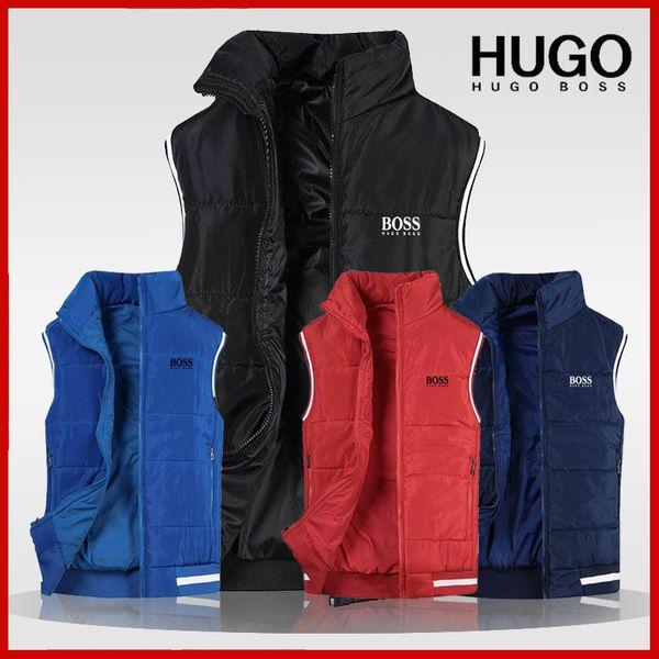 top popular Christmas Brand winter hogo b0ss veste pour homme Mens Vest Herren Designer Weste giubbotto women coat men's coat Down jacket 2020