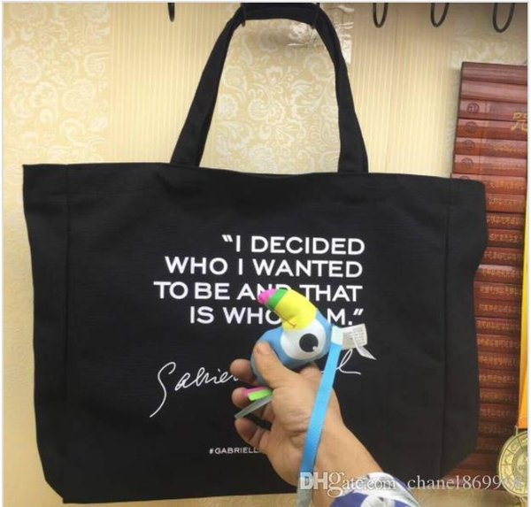 2019 New arrival With Classic shopping Bag Gym Thick canvas Bags Travel tote Bag Women canvas Wash Bag Cosmetic Makeup Storage Case VIP gift