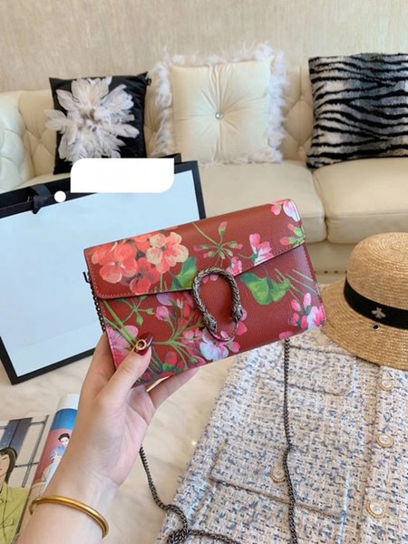 Italian Brand Female Shoulder Bag Messenger Bags Sweet Flower Bird Women Shoulder Bag Chain Bag Crossbody Ladies Luxury Designer Handbags