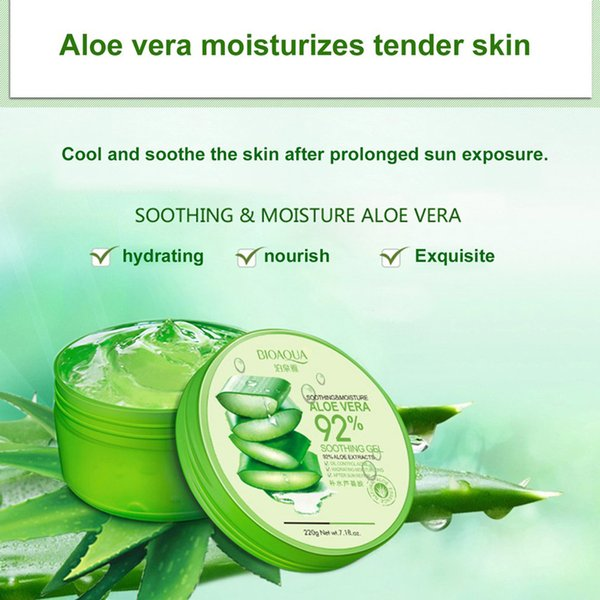 2018 pure organic aloe vera gel cream hyaluronic acid ma k oothing moi ture hydrating oil control kin care 660297