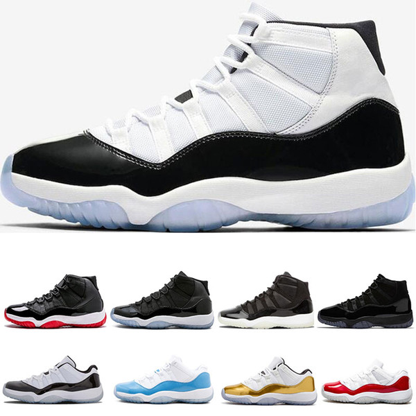 11 s Erkek Basketbol Ayakkabıları Platin Tonu Concord 45 Balo Gece 11 efsane Mavi Getirdi Gama mavi Eğitmenler spor sneakers ayakkabı 5.5-13