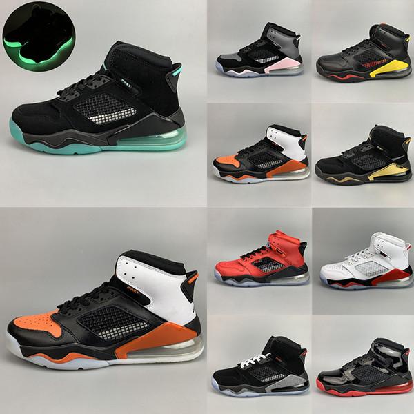 Erkekler için Mars Yastık Basketbol Ayakkabıları İlk 3 Ateş Kırmızı Üzüm Arkalık Kızılötesi 23 Citrus Tasarımcı Trainer Sport Sneakers Shattered Bred
