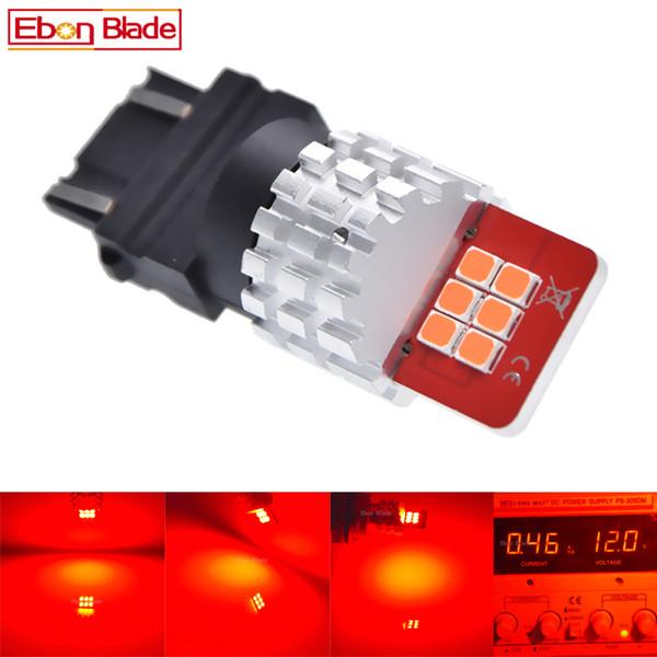 2Pcs T25 3157 P27/7W LED Bulbs 2835 12SMD Super Bright Red Car Brake Stop Parking Light Auto Tail Lamp 9V-16V DC