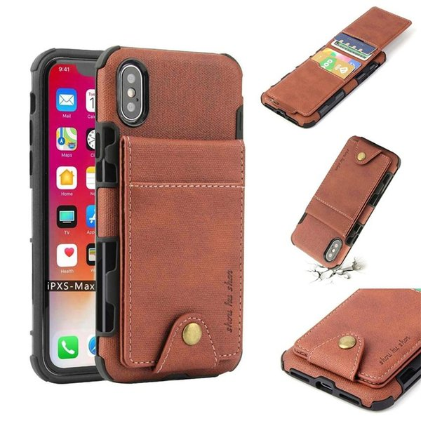 New arrival Fashion Multi-functional Leather Wallet phone case for iPhone XS Max XR X 8 7 6 plus Samsung Note 9 S8 HUAWEI