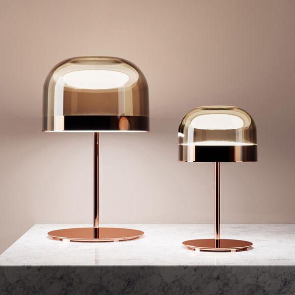 Table Lamps Modern Minimalist Lamp Study Bedroom Living Room led Light Luxury Model Room Creative Tained Glass Table Lamp
