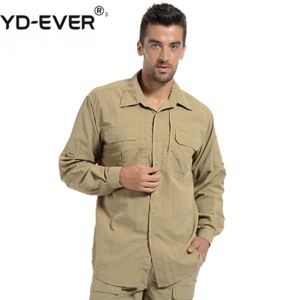 Men Lightweight Urban Tactical Shirt Quick Dry Army Cargo Shirt Summer Male Casual Clothes Breathable Long Sleeve