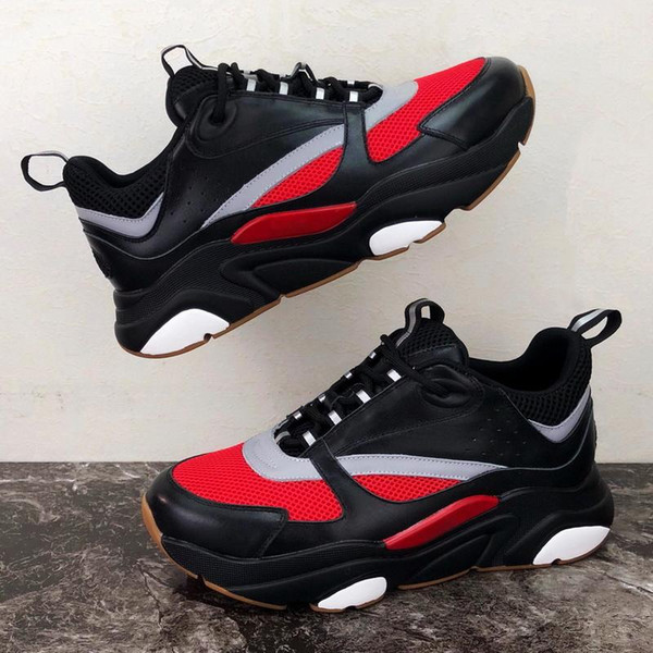 2019 новые 3D отражающей холста и телячьая спортивная обувь из Европы Модных мод спортивных B22 мужских техническая повседневная обувь 35-45 hn07