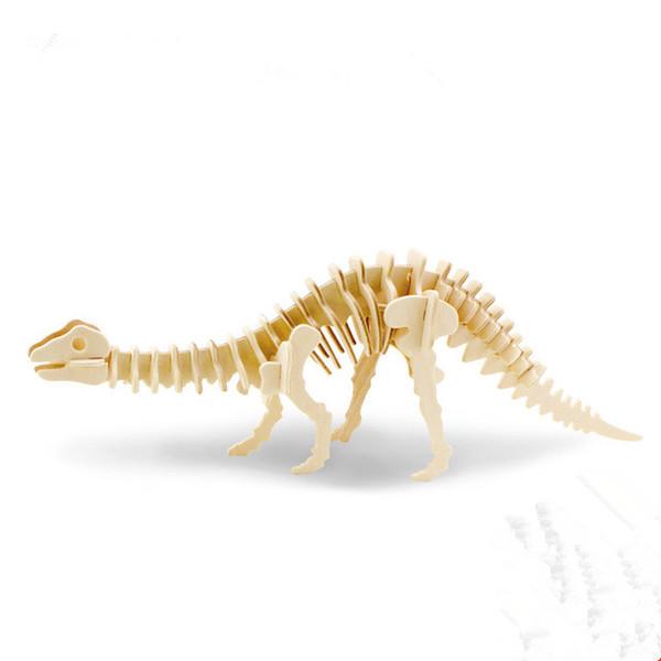 6 Модели DIY Игрушка для Мальчика 3D Динозавров Деревянная Игра-Головоломка Игрушка в Подарок для Детей Взрослых Творческий Сейф Древесины Обучающие