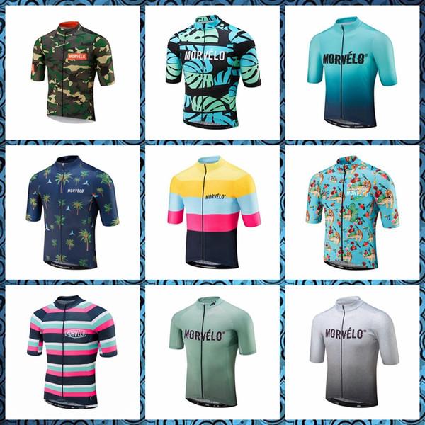 Morvelo yaz erkekler yeni stil Hızlı Kuru Bisiklet Kısa Kollu jersey pro Yarış Açık Spor ücretsiz teslimat giymek 52827