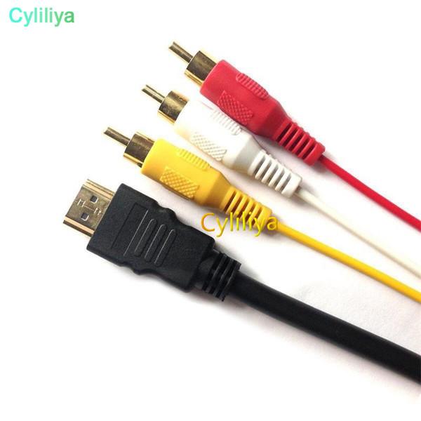 1.5 M Hdmi Maschio A 3 RCA 3RCA 5 RCA 5RCA AV Component Component Convert Cavo Adattatore Cavo Per DVD HDTV STB 1080P