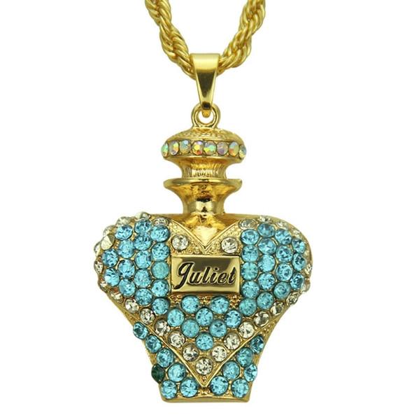 Collar de alta calidad joyería de moda 18 K diamante plateado en forma de corazón diseñador de hombres y mujeres diseño perfecto boutique seri 540 #