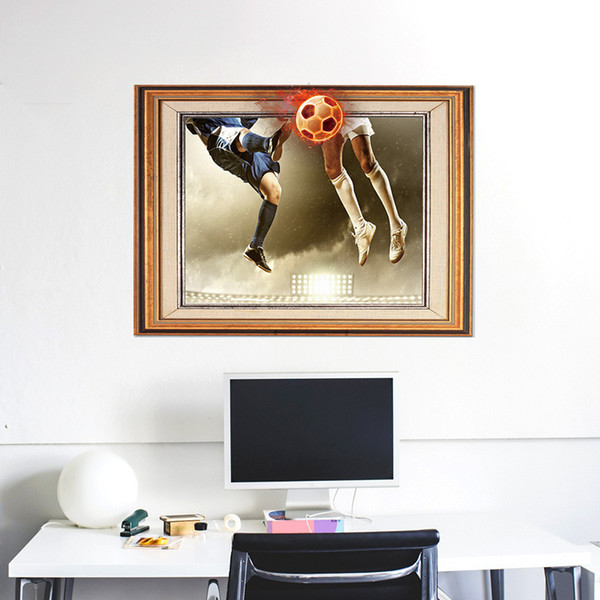 Acquista Coppa Del Mondo Di Calcio 3D Photo Frame Wall Sticker Camera Da  Letto Soggiorno Point Ufficio Decorazione Wall Sticker A $6.84 Dal Moon113  | ...