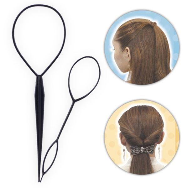 Plastic Hair Loop Styling Tool Ponytail Bun Maker Hair Bun Maker Clip Braid Accessories For Women