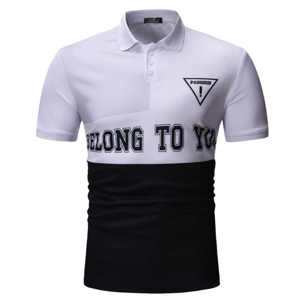 Новый дизайн мужская рубашка поло футболка мода печатных шаблон с коротким рукавом стиль хлопок удобный дышащий дизайн Бесплатная доставка