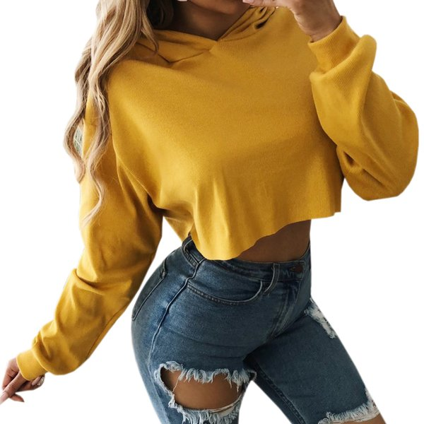 Hoody Hoodies Crop Tops Pullover Long Sleeve Autumn Sweatshirt Winter Wine Red Women Hooded Sexy Plus Size Female Girl Harajuku