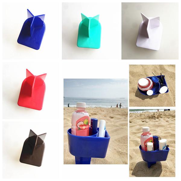 5styles Beach Cup Holder Ocean Plastic Sand Cup Maneja las herramientas creativas de almacenamiento en la playa ourdoor party Vacaciones Vacaciones Viajes Herramientas de viaje FFA1985