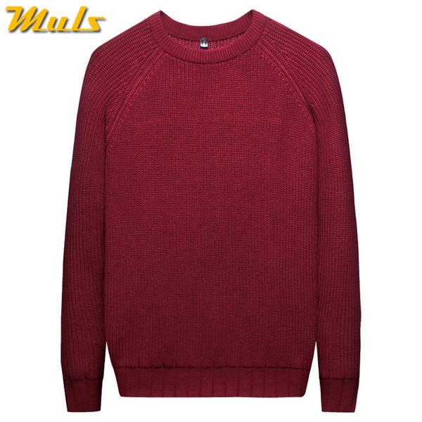 715ca6ba976 MuLS 2019 Heavy-Knit Sweater Men Pullover Winter Warm Thicken Sweater Women Jumpers  Male Female Cotton Crew-Neck knitwear 3XL