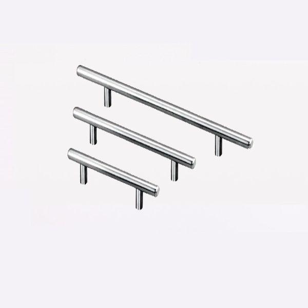 T Type Handles For Cupboard Door Drawer Wardrobe Shoe Cabinet Pulls Stainless Steel 3 Size Universal