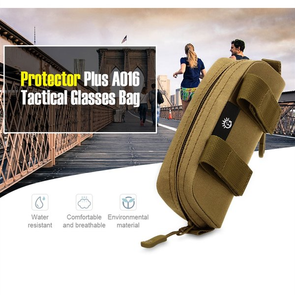 Nylon Waist Belt Pack Hook Clutch Bags Riding Glasses Case Accessory Purse Molle Military Hip Bum Camouflage Glasses Bag #86622