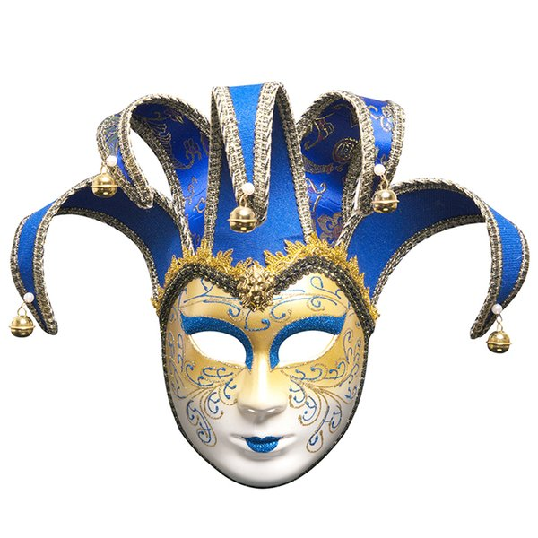 Vintage Jolly Joker Venetian Masquerade Mask Costume Halloween Cosplay Mask For Party,Ball Prom,Mardi Gras,Wedding,Wall Decoration 8 Colour