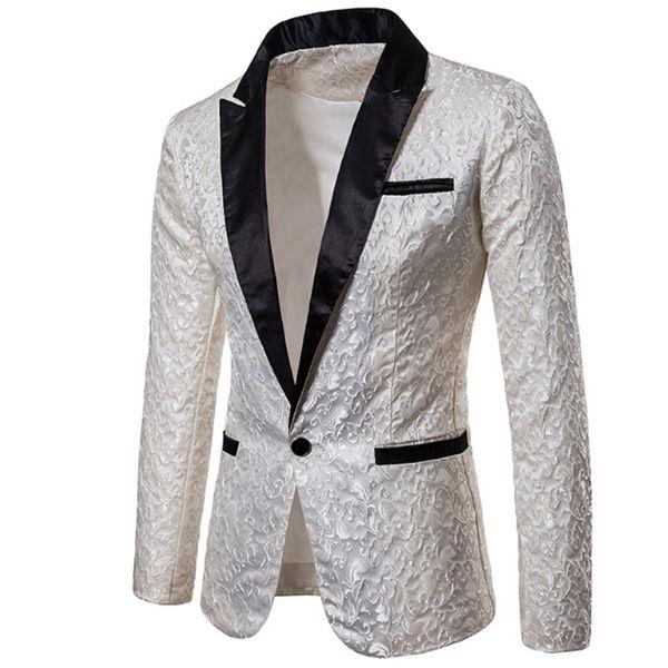 Luxury Men Suit Tuxedo Blazer Slim Fit Suit Unique Mens Male Blazers Dress Jackets Wedding Party Shows Costume