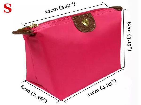2017 Women Nylon Zero purse Waterproof Makeup Hand Bag Nylon CLUTCH BAGS Package Fashion Cosmetic Bags Champagne Cases