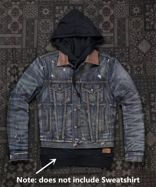 UGLYBROS UBJ-121 T-shirt vintage de moto veste de protection moto veste denim classique pour les hommes