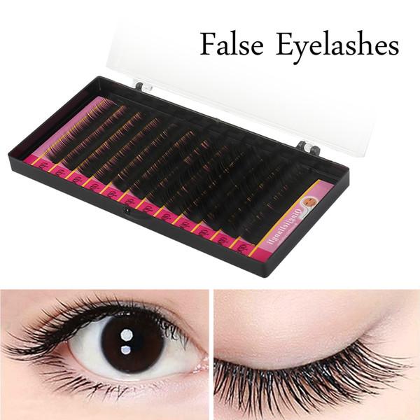 Mink Sizes False Eyelash Extensions Black BCD Curls Individual Fake Lash Semi Permanent Extensions 1 Tray/Lot