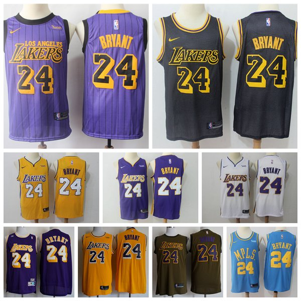 Kobe Lakers Los City Mens Angeles Jerseys Shorts 2018 Bryant Basketball Stitched 24 From Edition New
