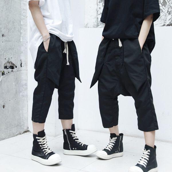 2019 printemps nouveaux hommes occasionnels hip hop huit pantalon styliste de cheveux simple lâche occasionnels sarouel pantalons vêtements