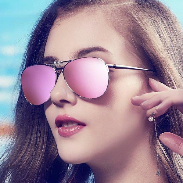 Vazrobe Klip Polarize Güneş Gözlüğü Kadın Erkek Gözlük Çerçeve Üzerinde Fit Sürüş Polaroid Aynalı HD Anti UV400 Pilot Yansıtacak