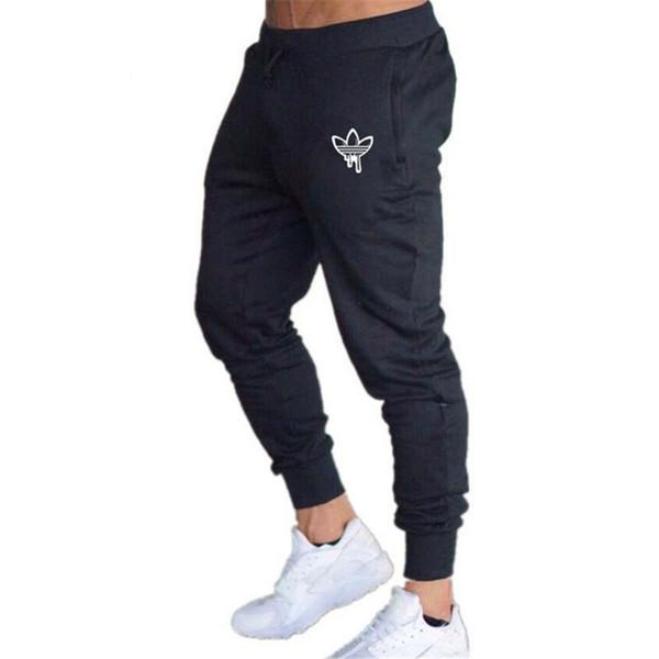 Мода Мужчины тощий Тонкий брюки Joggers повседневные брюки для бега трусцой днищ Sweatpants для бега Строительство Велоспорт тела гимнастики