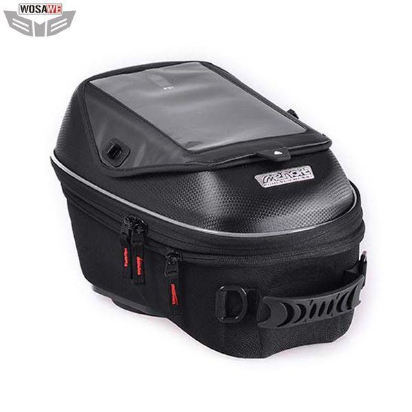 Borse serbatoio carburante olio moto MENAT 18-23L Cellulare borsa GPS per navigazione GPS Borse da moto impermeabili da corsa con parapioggia