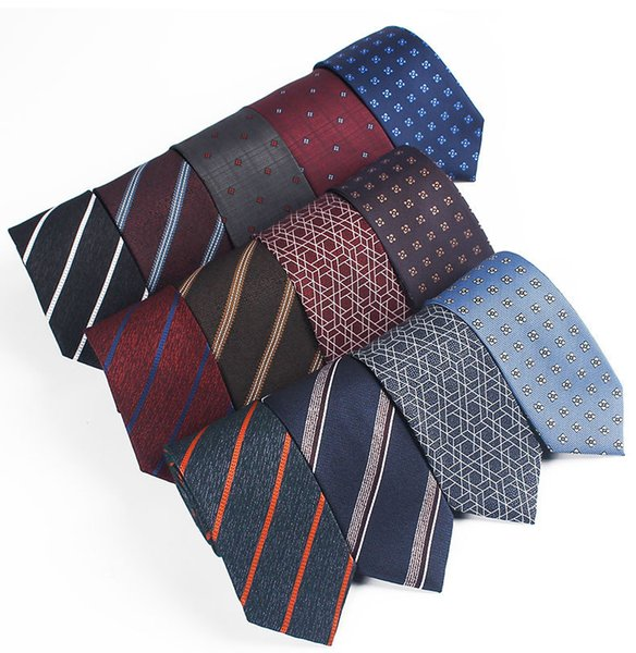 Tie Men's Party Recreational Fabric Decorative Colored Polyester Jacquard Business Tie