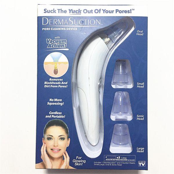 2019 Novo DermaSuction Removedor de Poros Facial Removedor de Poros Elétricos de Remoção de Extração De Vácuo Máquina de Descascamento de Pele Recarregável