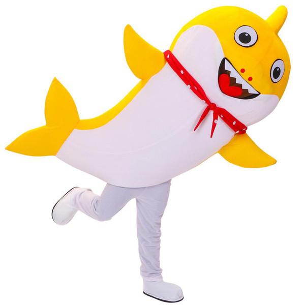 Bebé disfraz de tiburón Padre disfraz de mascota de tiburón Fiesta de cumpleaños Fiesta de cumpleaños de Halloween Festival de carnaval Disfraces Vestido adulto