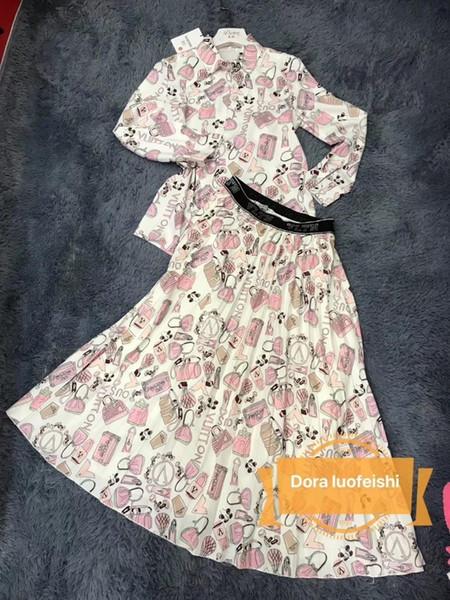 Womens dress designer skirt sets for women custom bag printing shirt new casual fashion wild T-shirt skirt
