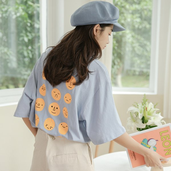 2019 New Cute Funny Cartoon Printed Short Sleeve Tshirt Women Summer Casual Loose T Shirt Korean Harajuku Clothes