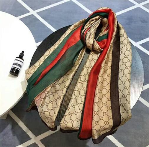 foulard pour femme top qualité imprimé lettres classiques modèle élégante dame wrap foulard 190x80cm cadeau de Noël