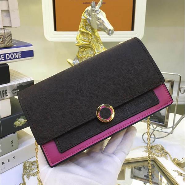 Großhandel Frauen Haspe Kartenhalter Visitenkarte Flore Kette Geldbörse Frau Brieftaschen Marke Designer Brieftasche Größe 17 5x11 5x3 5 Cm Modell