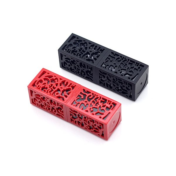 Make Up Empty Lipstick Tube Red Black Hollow Lip Balm Containers DIY 12.1mm Homemade Packaging Material Shell 20pcs/lot